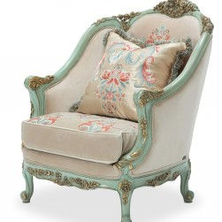 Michael Amini Belle Fleur Matching Chair Champagne