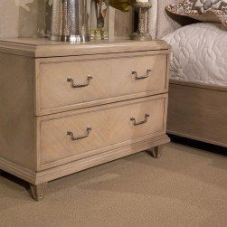 Michael Amini Tangier Coast 2 Drawer Nightstand Desert Sand