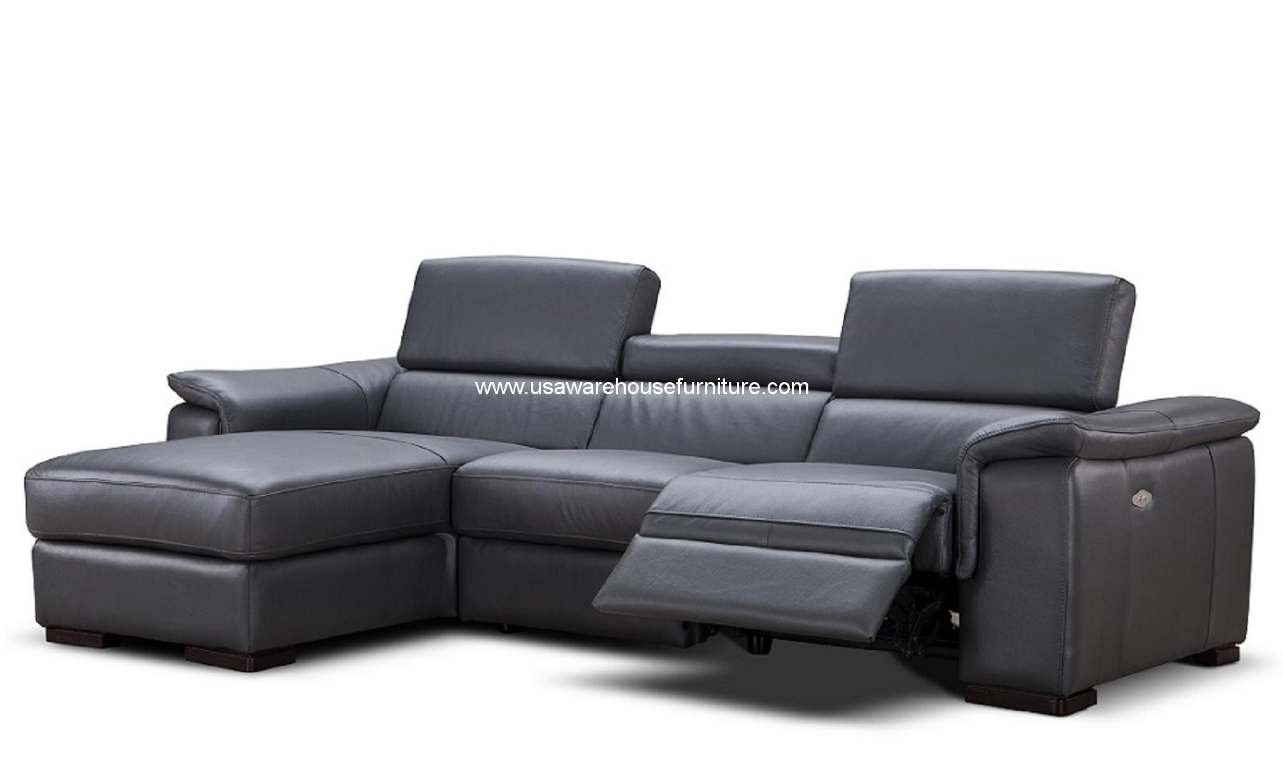 Alba Premium Leather Power Reclining Sectional on electric lamp