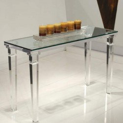 Acrylic Chateau Sofa Table With Glass Top