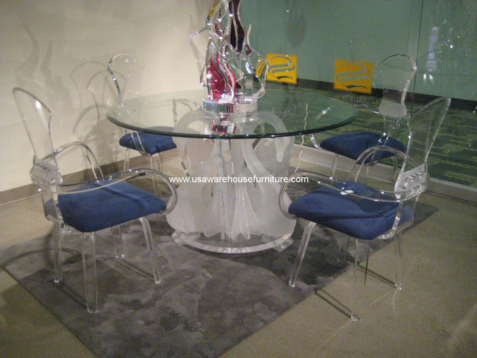 Acrylic Legend Swan Round Dining Table Ls 9500 Usa