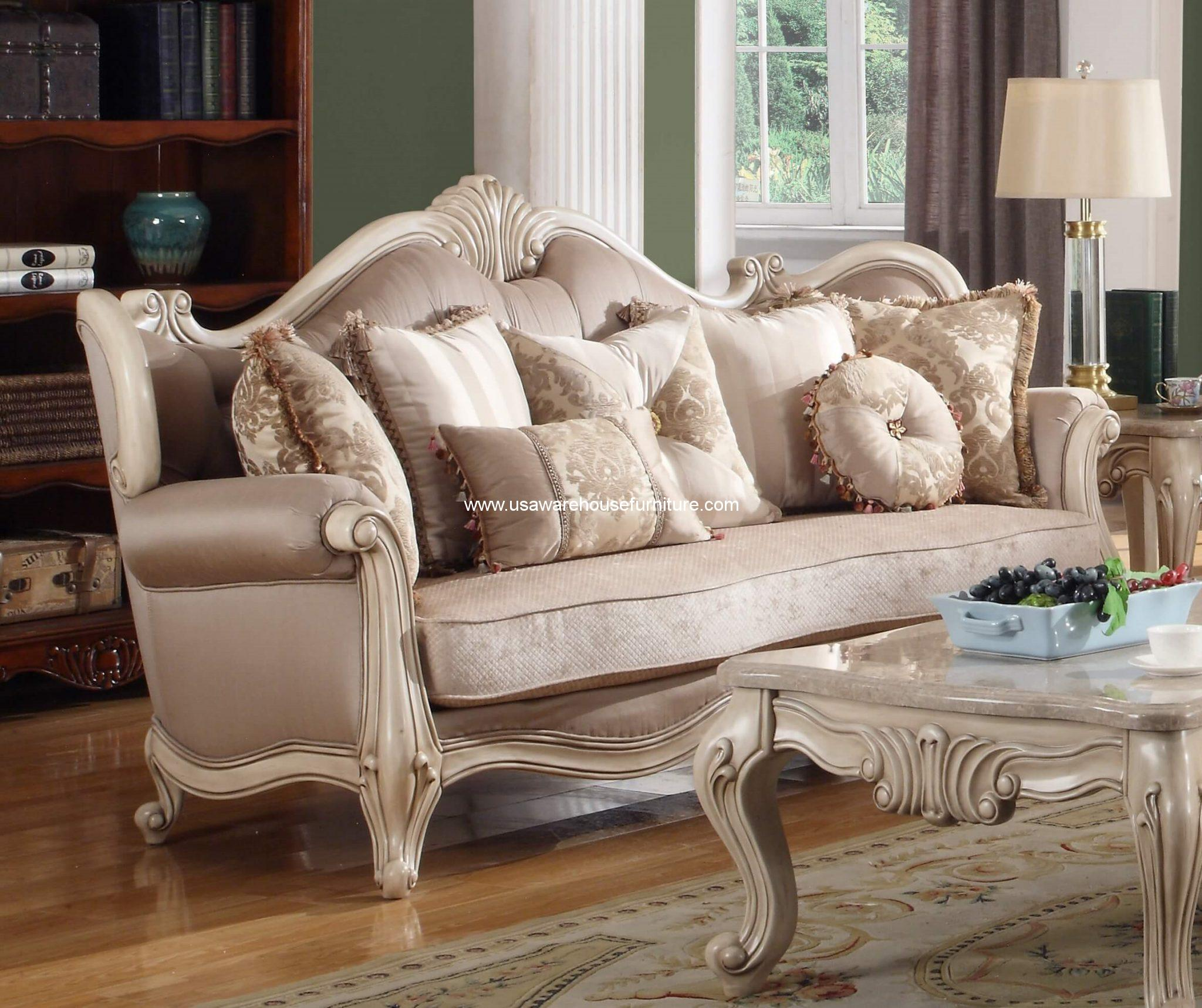 Mcferran Furniture Sf8701 Natalie European Sofa Antique