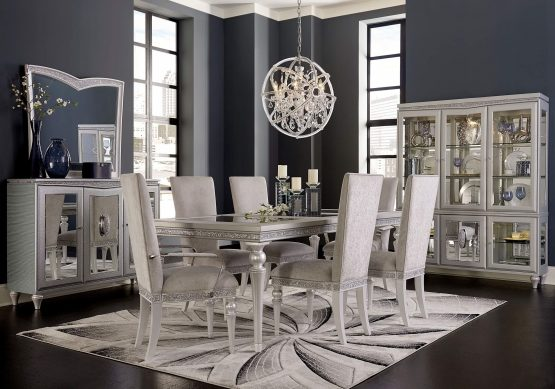 Michael Amini Melrose Plaza 4 Leg Dining Set