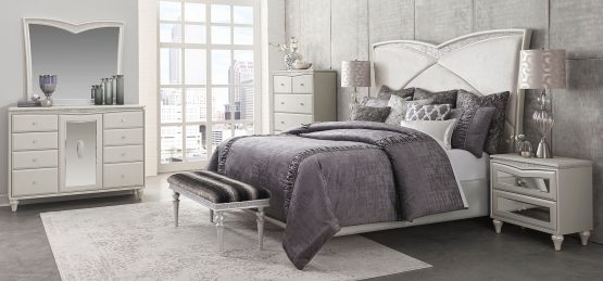 4 Piece Melrose Plaza Upholstered Bedroom Set