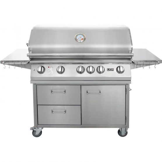 5 Burners Premium Grills 40 Lion - L90000 Stainless Steel