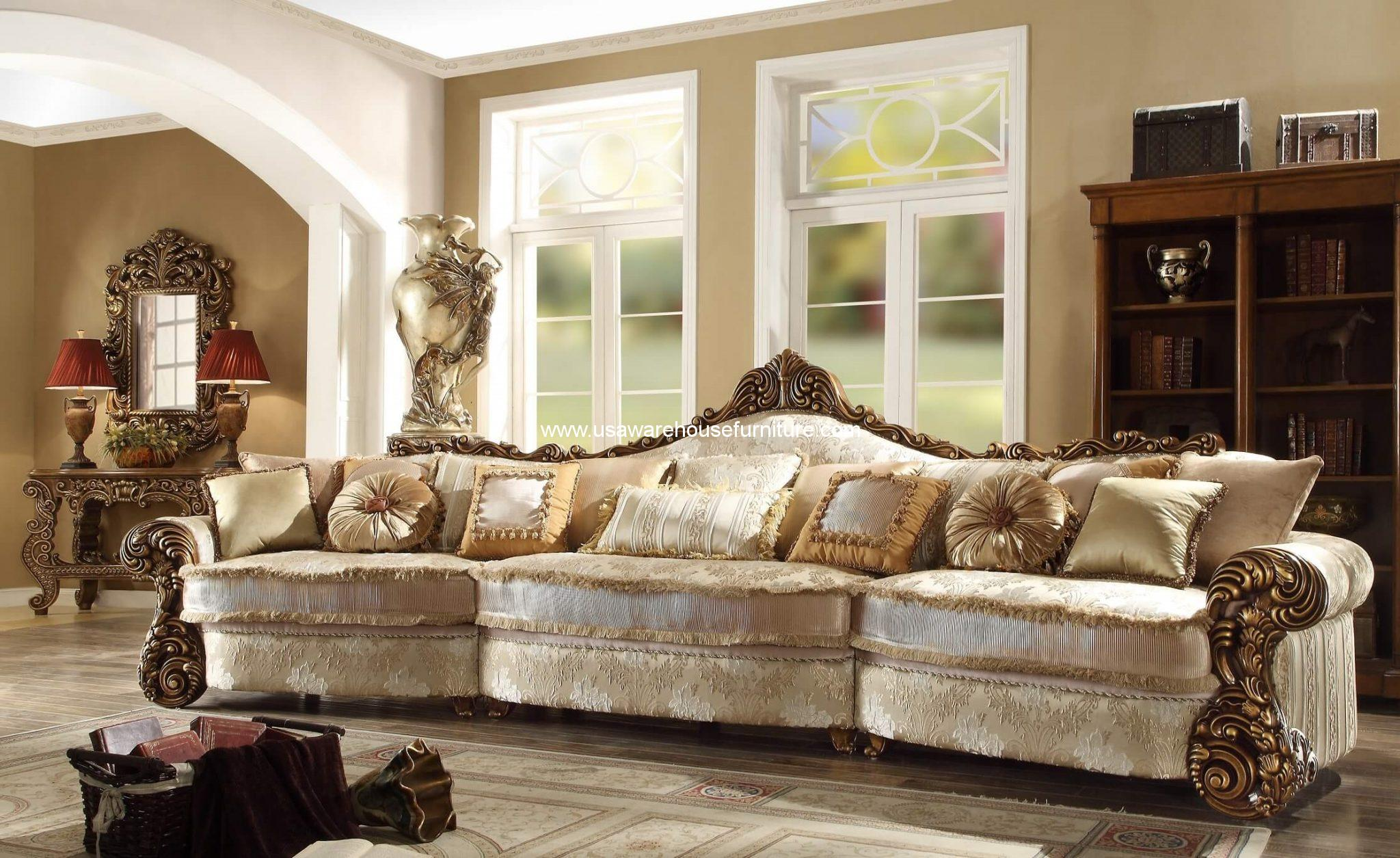 Hd 1608 Old World Mansion Sofa