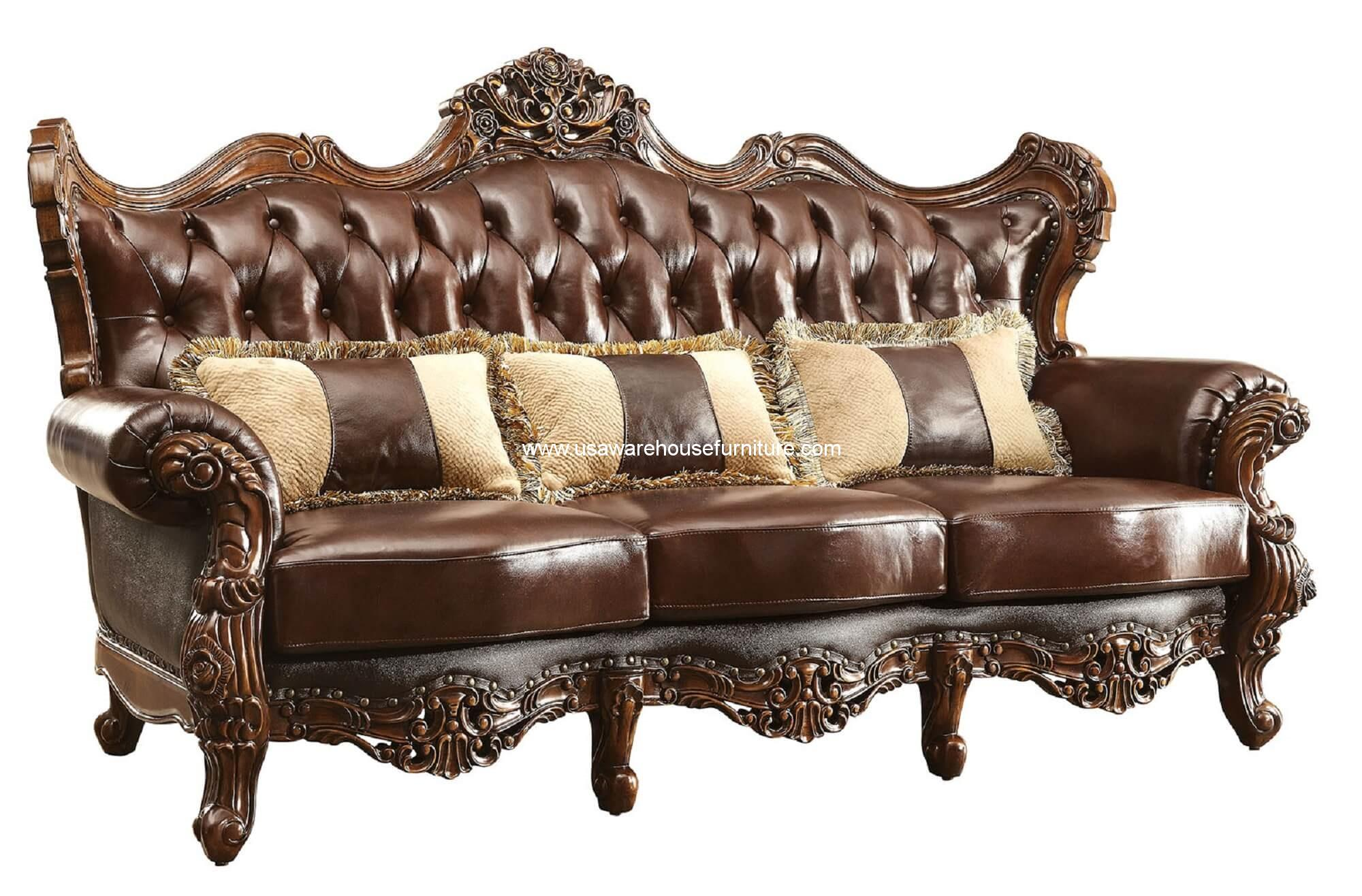 Wood Trim Sofas Furniture - Easy Home Decorating Ideas