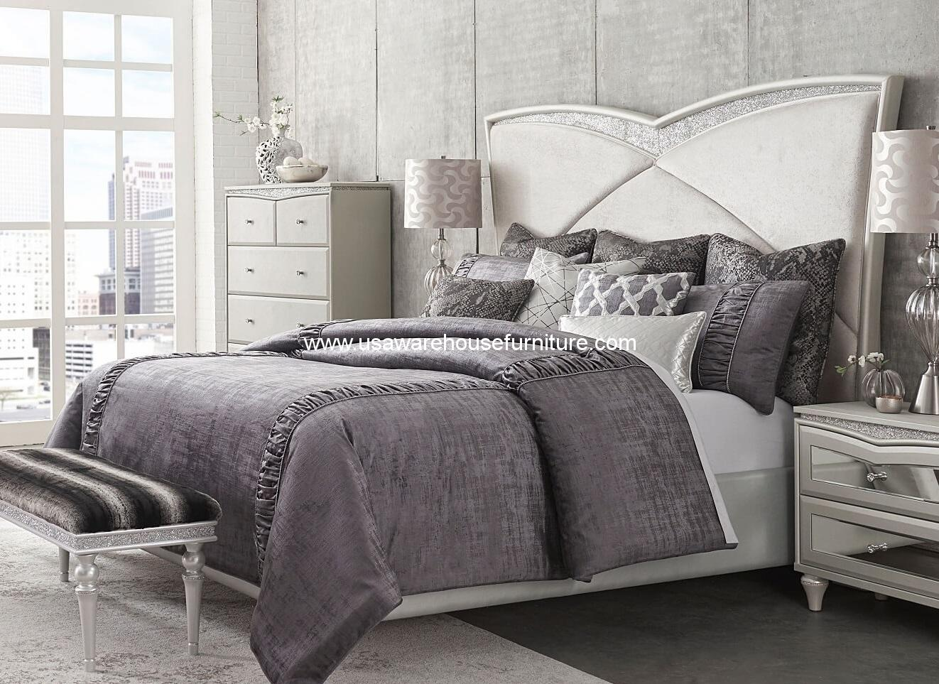 Michael amini bedding harlington luxury bedding set a for Top 10 furniture brands in usa