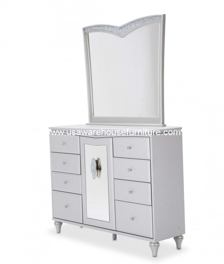 Michael Amini Melrose Plaza Upholstered Drawer Dresser