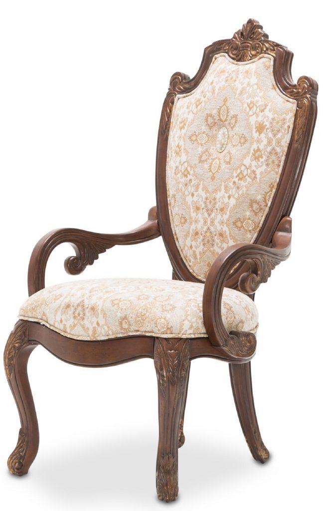 Michael Amini Villa Di Como Dining Arm Chair Portobello Finish