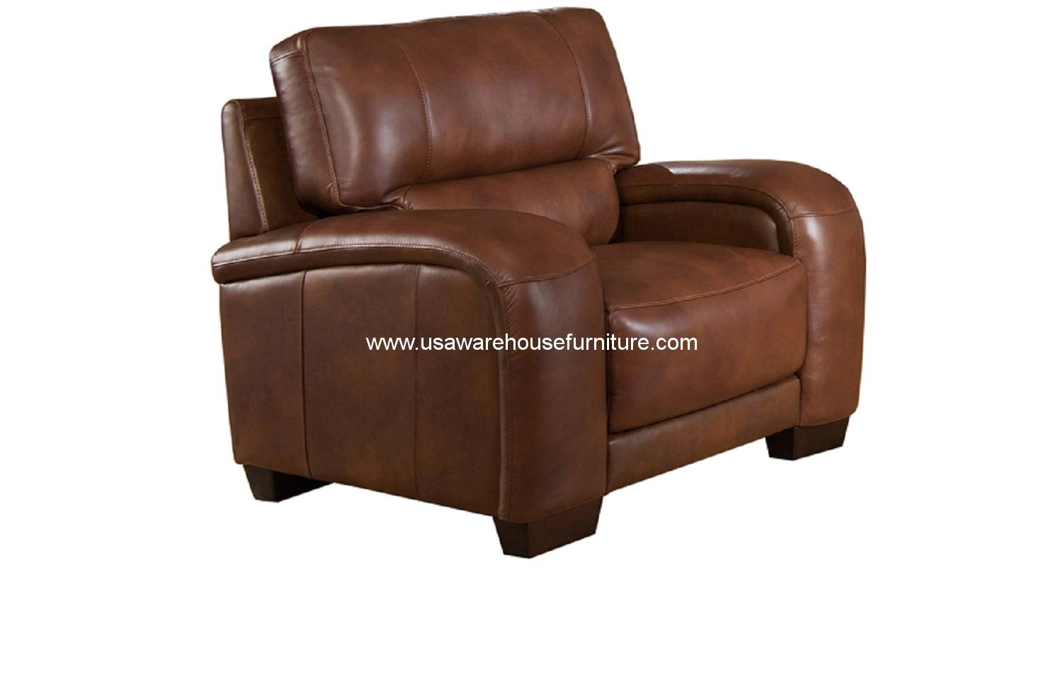 brigitte brown full top grain leather chair usa warehouse furniture. Black Bedroom Furniture Sets. Home Design Ideas