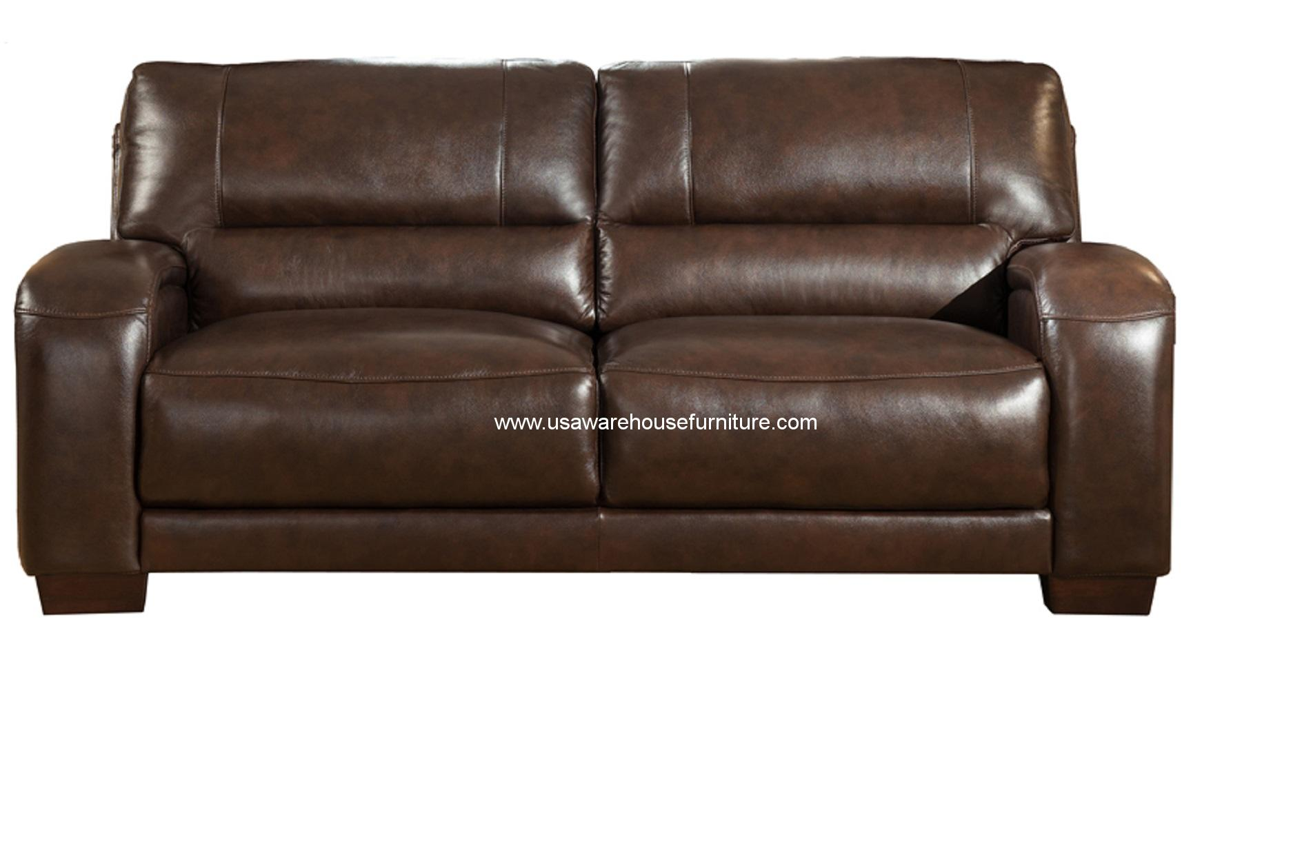 brigitte dark brown full top grain leather sofa usa warehouse furniture. Black Bedroom Furniture Sets. Home Design Ideas