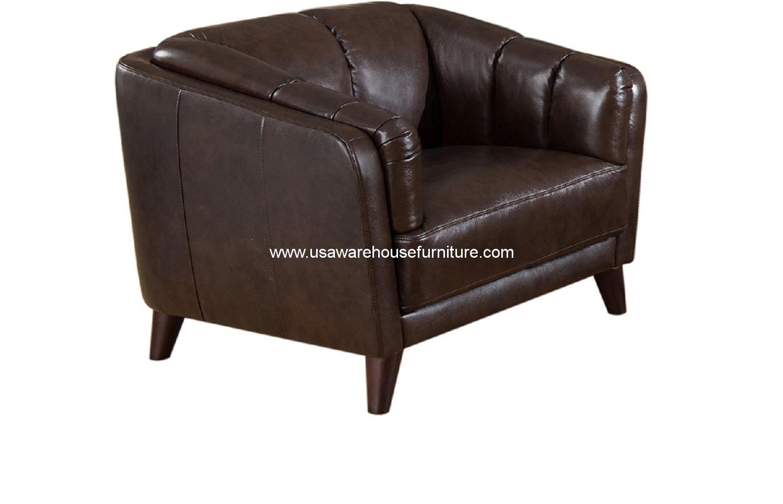 Frances Dark Brown Leather Chair Usa Warehouse Furniture