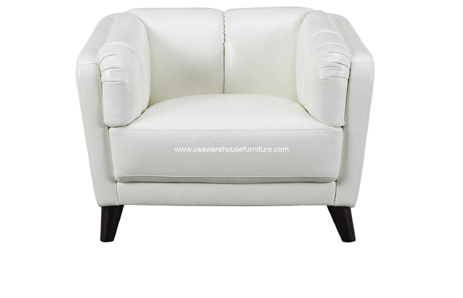 frances ivory white full top grain leather chair usa warehouse furniture. Black Bedroom Furniture Sets. Home Design Ideas