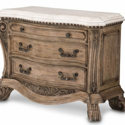 Michael Amini Villa Di Como Bachelor Chest Marble Top Heritage