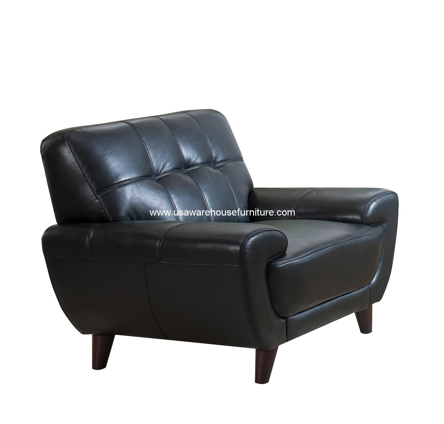 nicole black full top grain leather chair usa warehouse furniture. Black Bedroom Furniture Sets. Home Design Ideas