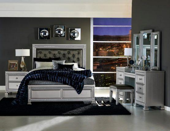 4 Piece Bevelle Modern Bedroom Set