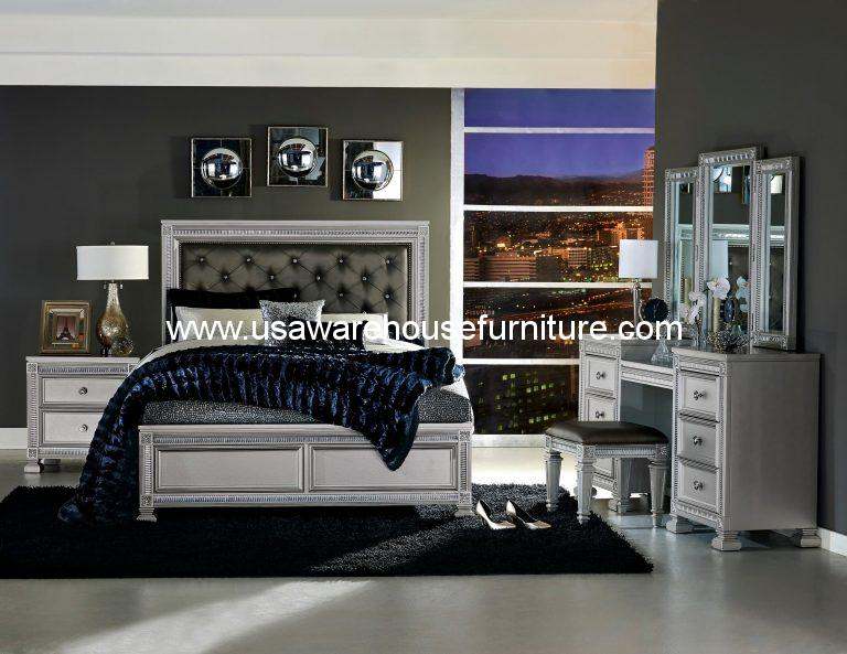 4 Piece Bevelle Modern Bedroom Set