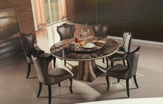 7 Pc Emma Marble Dining Set