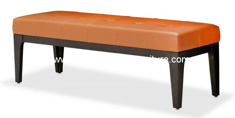 Michael Amini 21 Cosmopolitan Orange Bed Bench