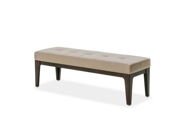 Michael Amini 21 Cosmopolitan Taupe Bed Bench