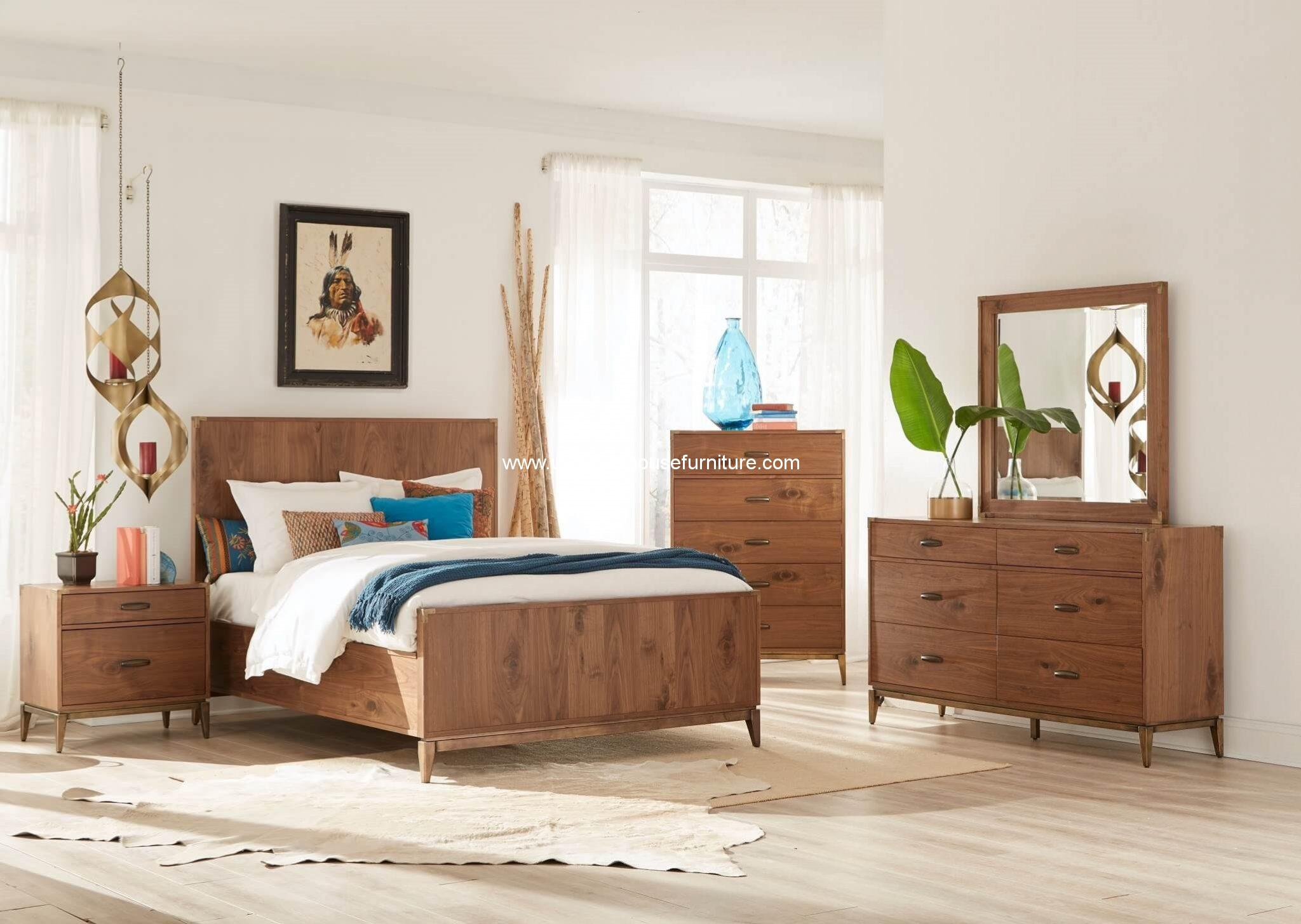 Adler 4 Piece Panel Bedroom Set Usa Warehouse Furniture