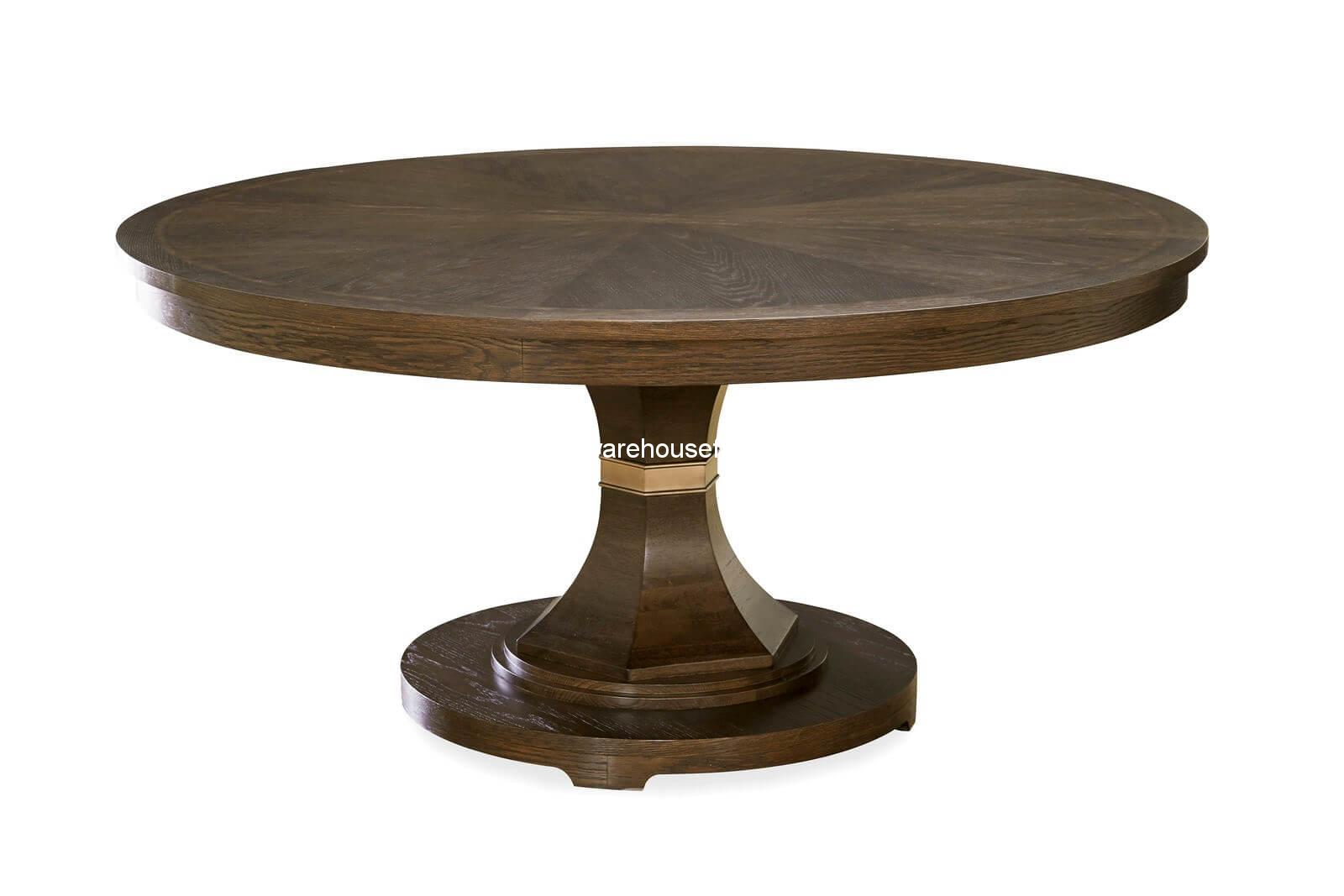 California round formal dining table usa warehouse furniture for Formal dining table