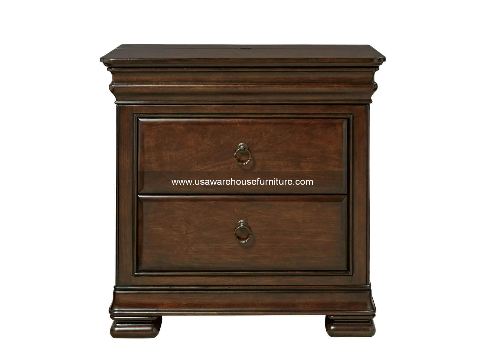 Reprise Nightstand Classical Cherry Finish Usa Warehouse