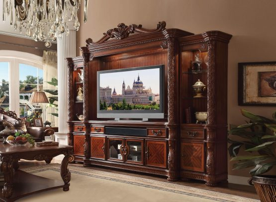 Vendome Cherry Oak Entertainment Center