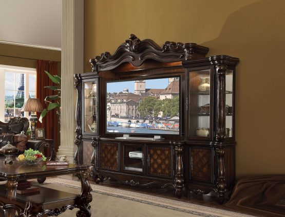 Versailles Entertainment Center Cherry Oak Finish