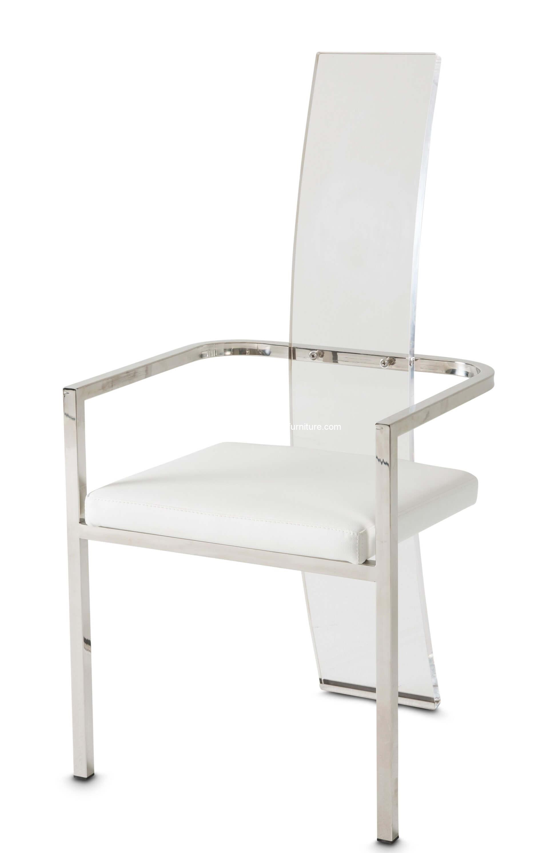 Michael Amini State St Dining Chair Set Of 2 Usa Warehouse Furniture