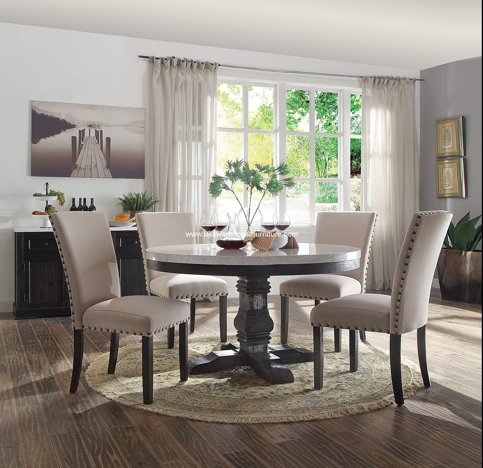 Marble Top Dining Table For Living Room Furniture