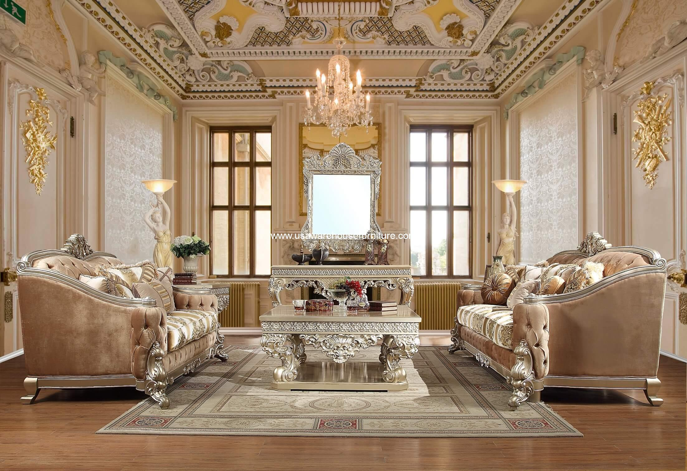 Royal Palace Sofa Set Homey Design HD 820