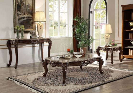 3 Piece Mehadi Marble Top Occasional Set