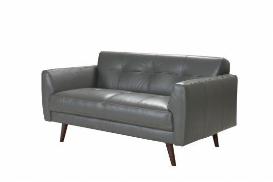 Adda Italian Leather Loveseat