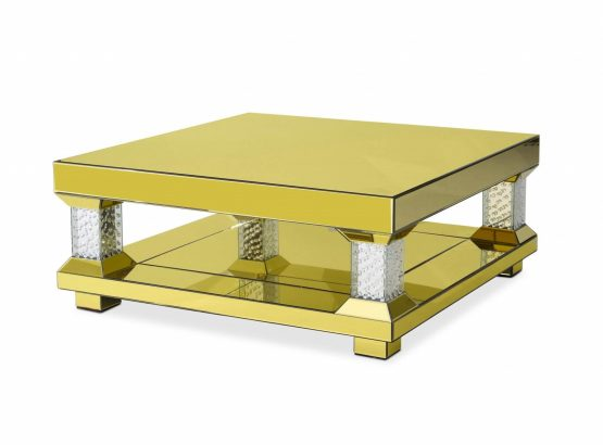 Montreal Gold Mirrored Cocktail Table