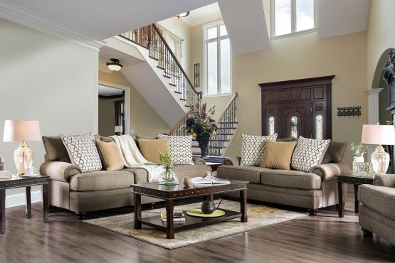 2 Piece Augustina Transitional Sofa Set