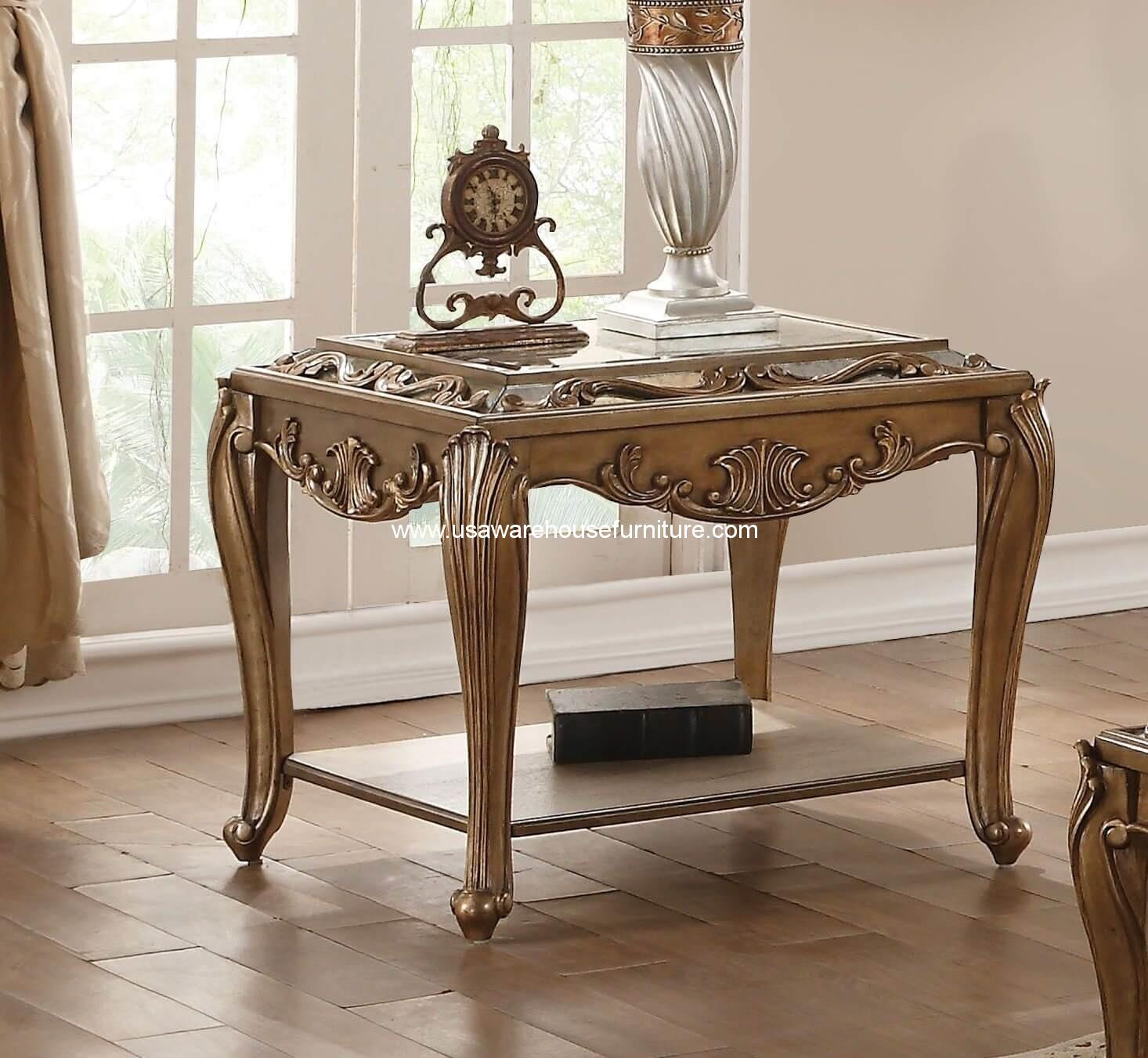 Orianne Antique Gold End Table