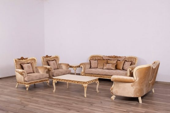 Fantasia Wood Trim Sofa Set